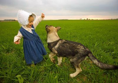 nie puszczaj psa do dziecka